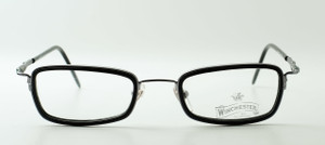 Silver frames with black insert