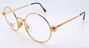 Round old fashioned glasses in gold finish from www.theoldglassesshop.co.uk