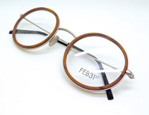 Hand made Italian wooden insert metal frame eyewear from www.theoldglassesshop.com