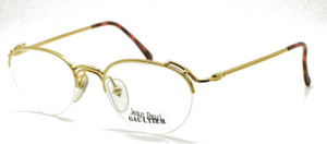 Jean Paul Gaultier 4175 Half Rim Panto Shaped Spectacles in Gold Finish