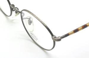 Engraved Antique SIlver Finish Oval Frames By SAKI 532 Made In Japan