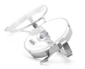 Les Pieces Uniques Goggle Style Half Rim Eyewear from www.theoldglassesshop.com