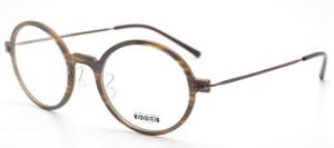 Les Pieces Uniques ZAZA Acetate Ultra Light Almost Round Style Glasses darkwood finish