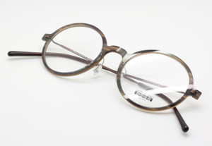 Les Pieces Uniques ZAZA polished actetate round style frames from www.theoldglasesshop.co.uk