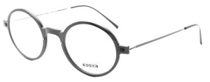 Les Pieces Uniques ZAZA Acetate Ultra Light Almost Round Eyewear in Black