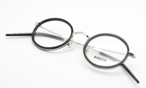 Hand Made in Japan, silver and black combination eyewear from Les Pieces Uniques