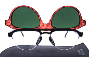 Panto Shaped Glasses With Flip-up Sunglasses By Esprit At www.theoldglassesshop.co.uk