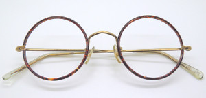 True Round Vintage Glasses With Chestnut Rims By Hilton