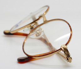 Gold and tortoiseshell Burberry frames from The Old Glasses Shop Ltd