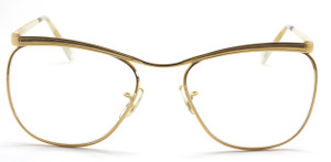 VINTAGE SAVILE ROW DUBAR  14kt Gold Filled Prescription Glasses By Algha In Shiny Gold