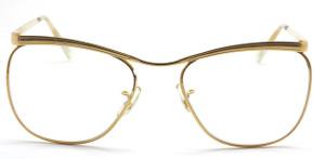 VINTAGE SAVILE ROW DUBAR  14kt Gold Filled Prescription Glasses By Algha In Shiny Gold