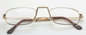 Full size reading glasses that fold up discretely into a pocket size soft case