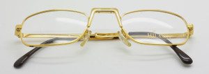 Hilton Slimford 24kt Deep Gold reading glasses from www.theoldglassesshop.co.uk