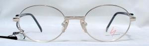 Yohji Yamamoto 5202 Oval Shiny Silver Frame