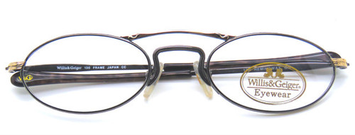 Willis and Geiger Hemingway Gold & Gunmetal eyewear from The Old GLasses Shop Ltd