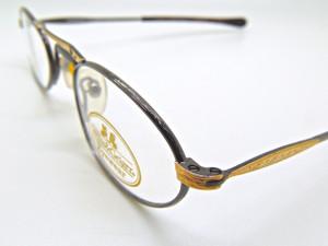 WILLIS & GEIGER Hemingway Gunmetal and Gold vintage prescription eyeglasses