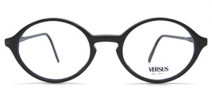 Versus by Versace F91 vintage black acrylic classic almost round designer frames