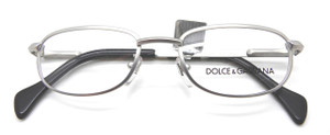 Dolce & Gabbana 330 silver metal rectangle designer vintage frames