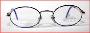 Winchester oval style blue designer frames for children