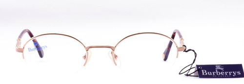 Burberry B8787 gold half rim metal designer vintage frames