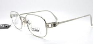 Jean Paul Gaultier 6107 vintage silver  metal designer eyewear