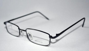 Modern rectangular Prescription glasses in black