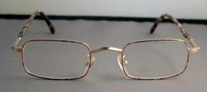 Winchester vintage gold metal rectangle designer spectacles