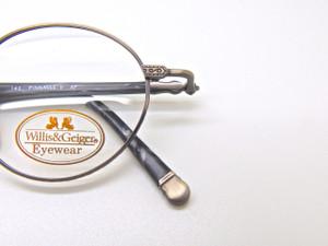 WILLIS & GEIGER American Classics Pinnacle 1 Vintage Eyeglass Frames In Antique Pewter 47mm lens