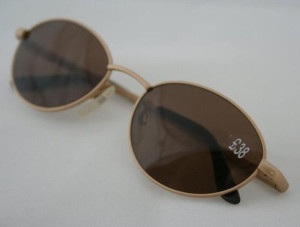 Superb Quality Gold Retro Oval Sunglasses