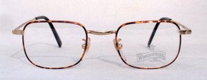 Winchester Redcloud almost square vintage designer turtle metal glasses