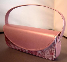 Designer Handbag Style Glasses Case in Pastel Pink