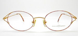 Vintage Oval Frames by Jean-Louis Scherrer in Gold and Pink