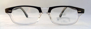 Winchester Mesa Vintage Designer Clear and Black Spectacles