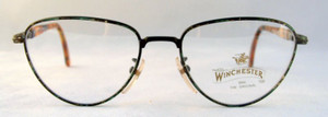 Winchester Soledad Vintage Designer Green Multi Metal Framed Glasses