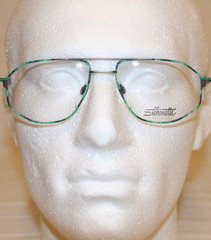 Silhouette M7254 Genuine Vintage Aviator Green Turtle Spectacles