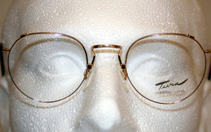 Tura 257 Gold Vintage almost Round Metal Designer Glasses