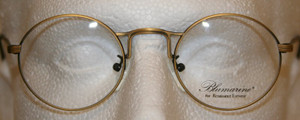 Antique gold metal frames with classic round lenses