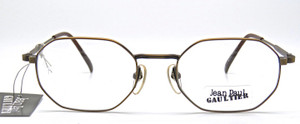 Smoke Gold Gaultier Vintage Eyewear Glasses from www.theoldglassesshop.co.uk
