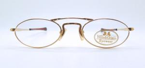 Vintage Willis & Geiger Designer Hemingway Gold Eyeglasses