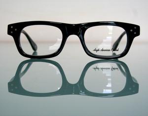 Anglo American Eyewear 181E Black Acrylic