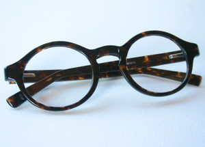 Round Glasses in Dark Turtle Retro Mens Eyeglasses