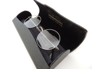 Perfectly round glasses by Wiseman and Co at The Old Glasses Shop