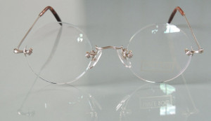 Steve Jobs Style Rimless glasses hand made in London