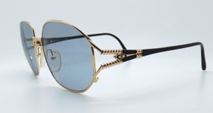 Christian Dior 2492 Large Style Gold Sunglasses With Lovely Arm Detail