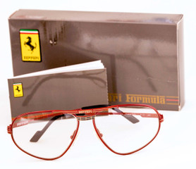 Ferrari eyewear in classic red from www.theoldglassesshop.co.uk
