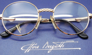 Vintage Bugatti almost round Eyewear from The Old Glasses Shop Ltd