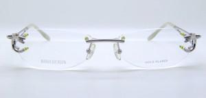 Boucheron Gold Plated Titanium designer rimless glasses from The Old Glasses Shop Ltd