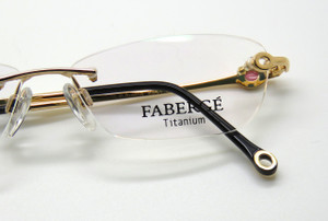Classic Faberge designer eyewear in rimless style with Gold Plated frame