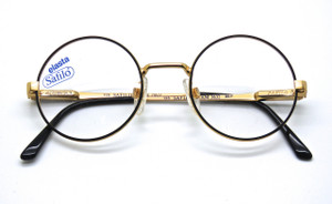 elasta Gold vintage round prescription eye glasses