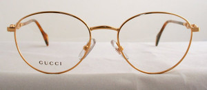 Gucci Vintage 1384 Metal Round Frame Glasses from www.theoldglassesshop.com